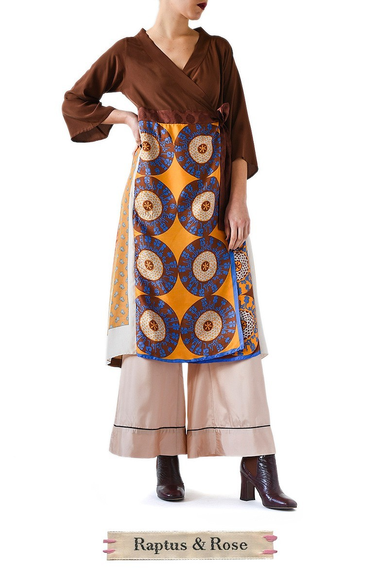 6f89c6c5290 INCREDIBLE DOUBLE FOULARD DRESS COAT He is a bit of a Kaftan
