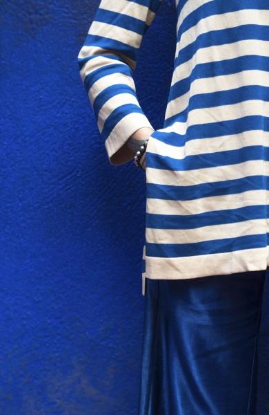 MAGLIA BLUE&IVORY